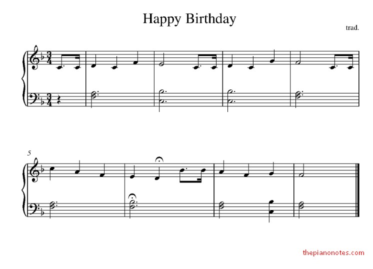 Happy Birthday to You Sheet Music