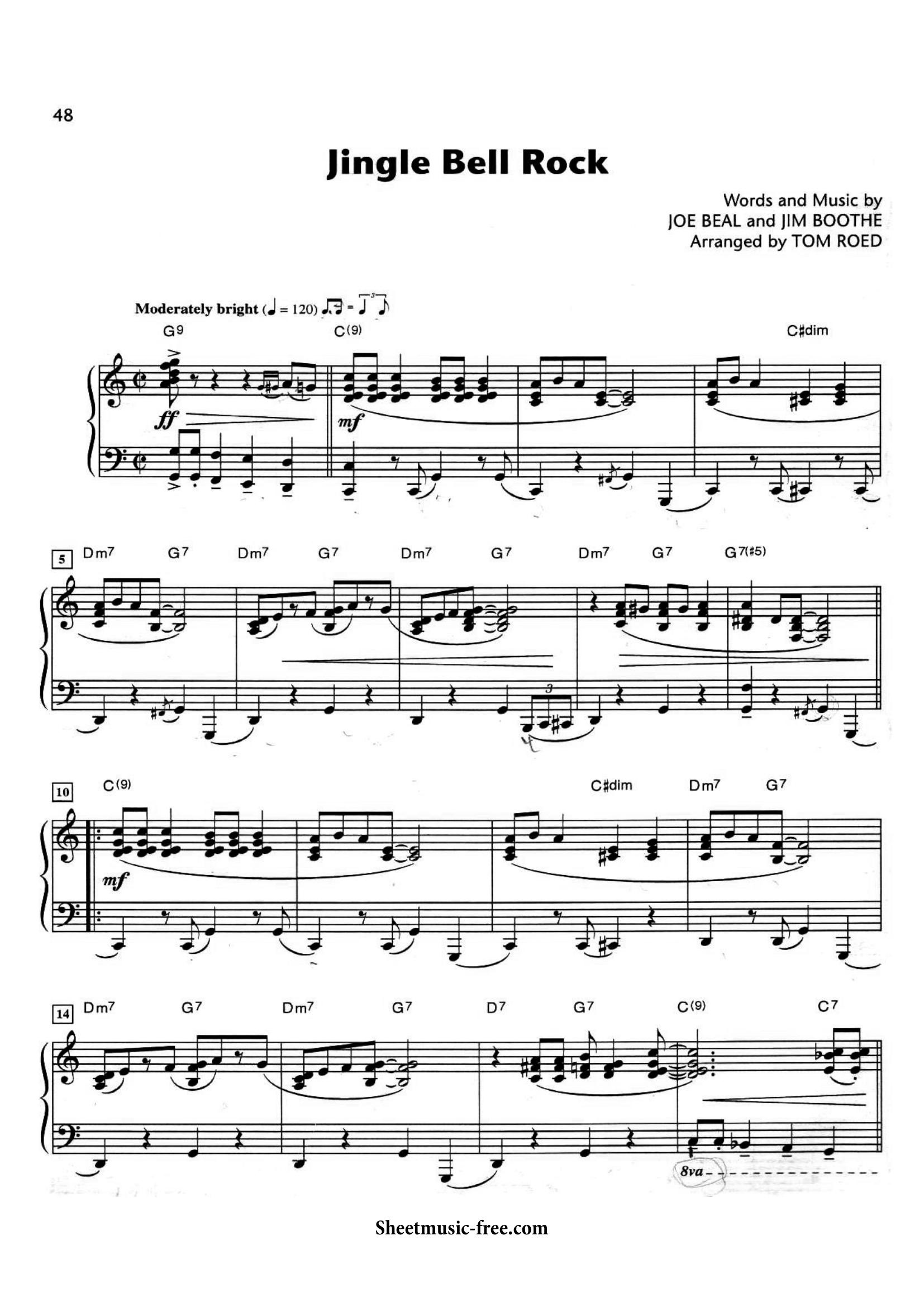 Jingle Bell Rock Sheets Page -1