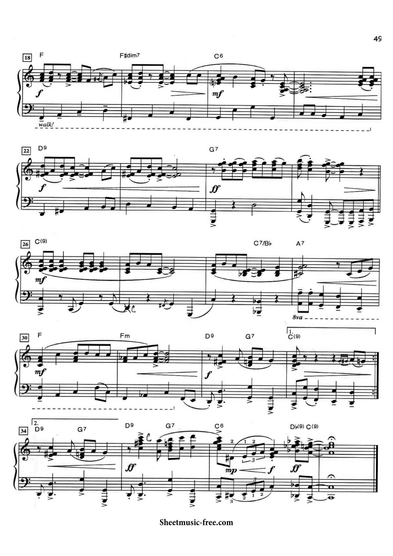 Jingle Bell Rock Sheets Page -2