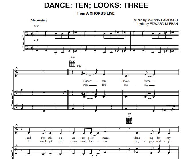 A Chorus Line - Dance Ten Looks Three