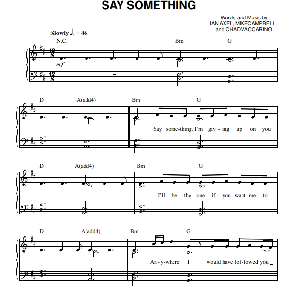 A Great Big World - Say Something Piano