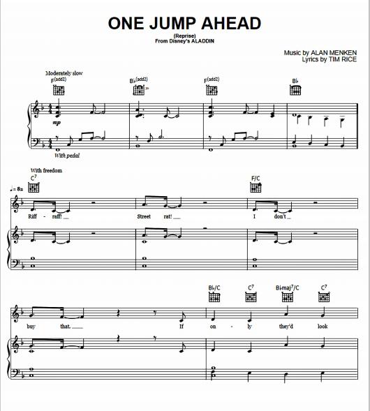 Aladdin - One Jump Ahead