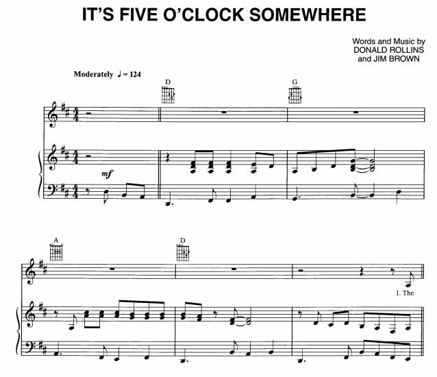 Alan Jackson - It's Five O'Clock Somewhere