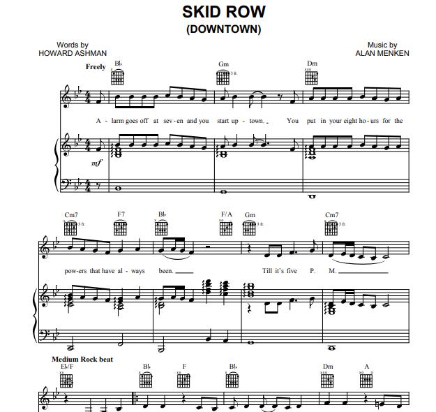 Alan Menken - Skid Row
