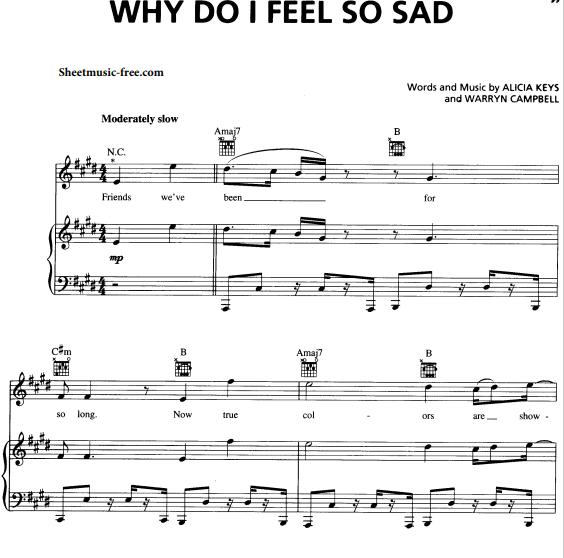 Alicia Keys - Why Do I Feel So Sad