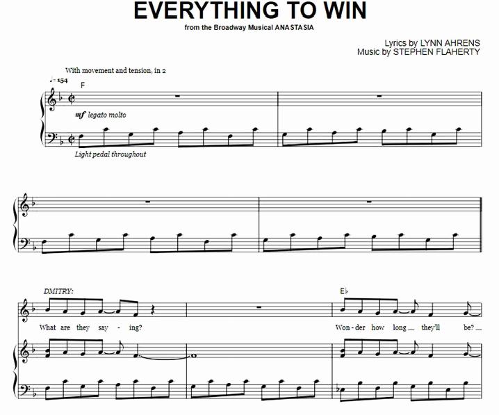 Anastasia - Everything To Win