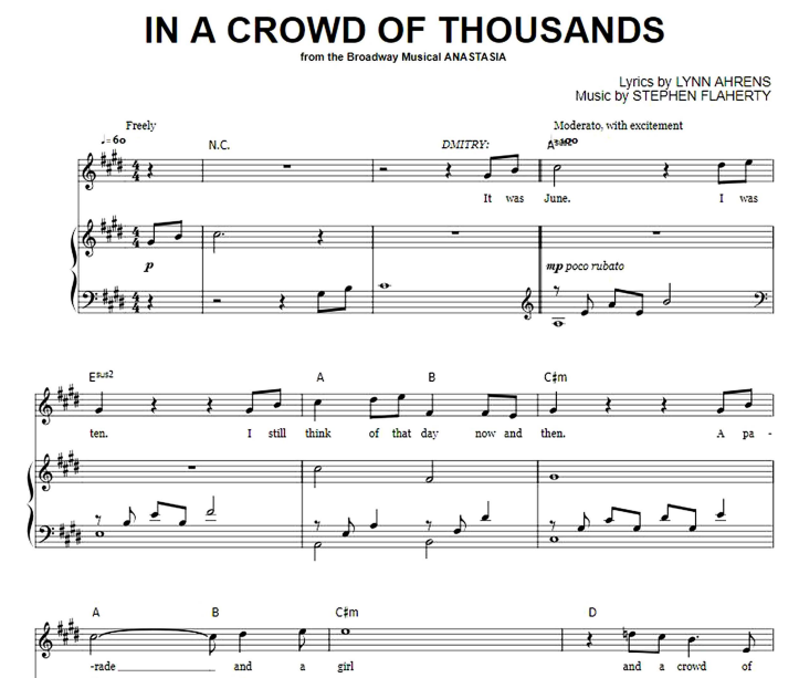 Anastasia - In A Crowd Of Thousands