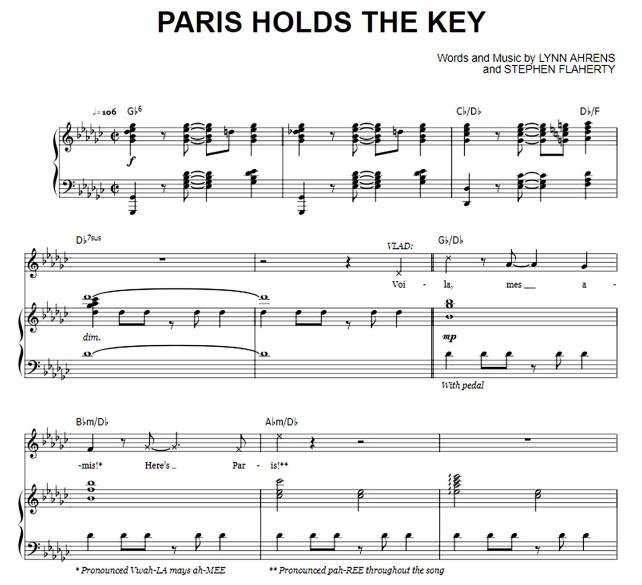 Anastasia - Paris Holds The Key