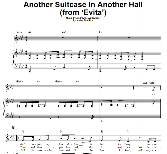 Andrew Lloyd Webber - Another Suitcase In Another Hall
