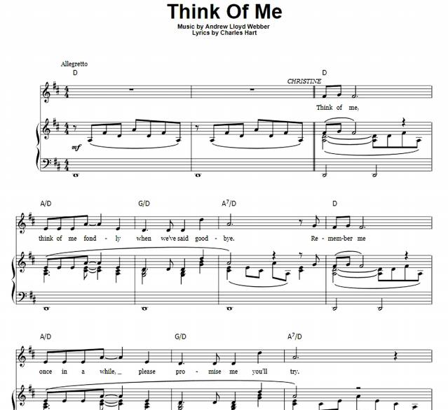Andrew Lloyd Webber - Think Of Me