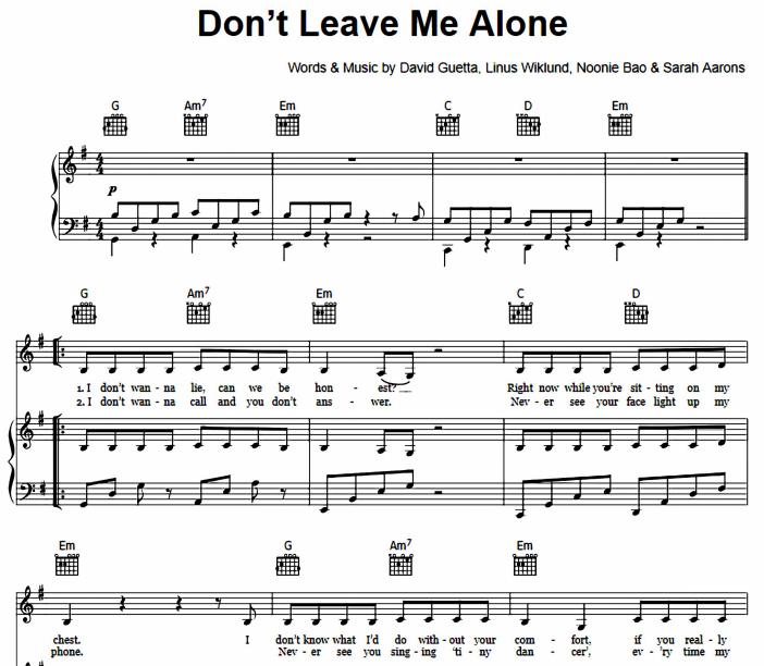 Anne-Marie featuring David Guetta - Don't Leave Me Alone