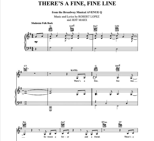 Avenue Q - There's A Fine, Fine Line