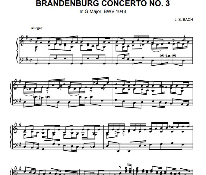 Bach - Brandenburg Concerto No 3