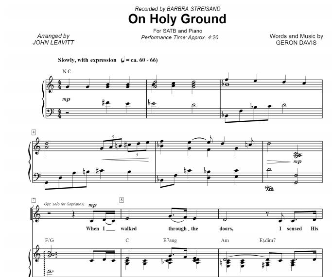 Barbra Streisand - On Holy Ground