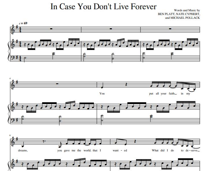 Ben Platt - In Case You Don't Live Forever