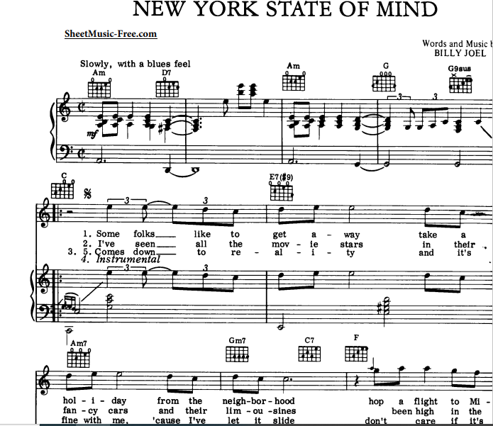 Billy Joel - New York State Of Mind