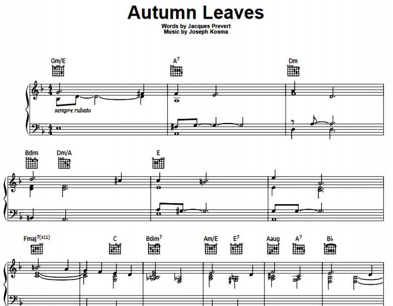 Bob Dylan - Autumn Leaves