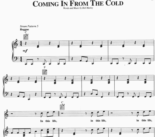 Bob Marley - Coming In From The Cold