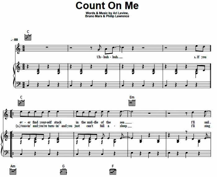 Bruno Mars - Count On Me