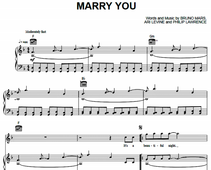 Bruno Mars - Marry You