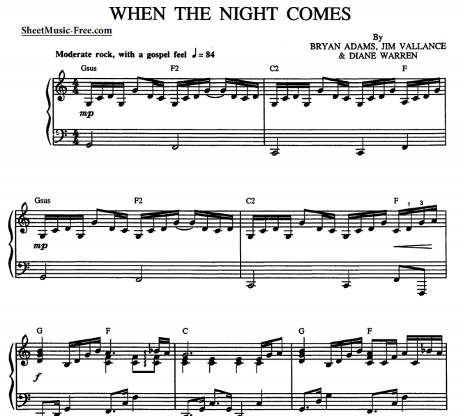 Bryan Adams - When The Night Comes