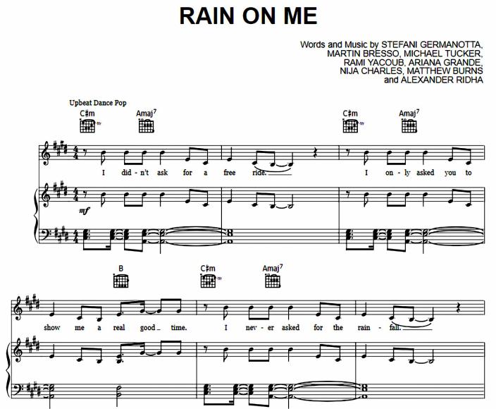 Lady Gaga and Ariana Grande - Rain On Me