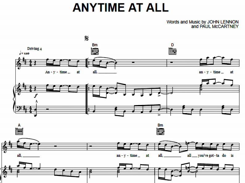 The Beatles - Any Time At All