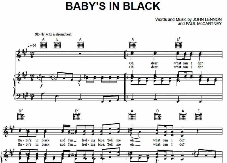The Beatles - Baby's In Black