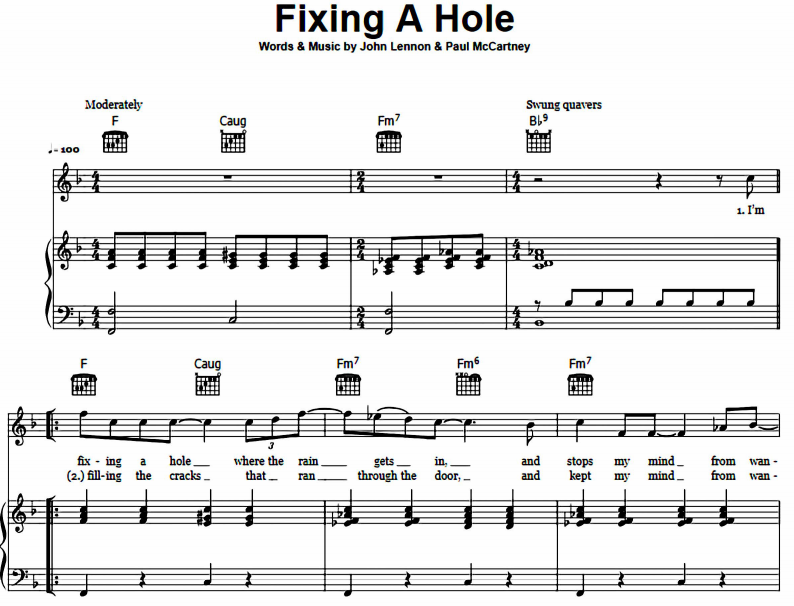 The Beatles - Fixing A Hole