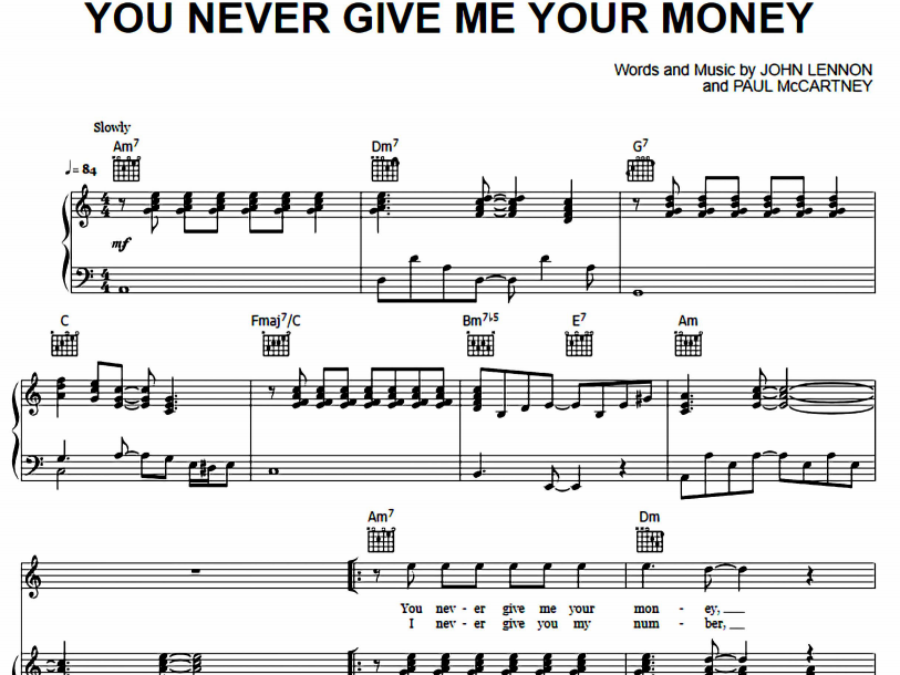 The Beatles - You Never Give Me Your Money