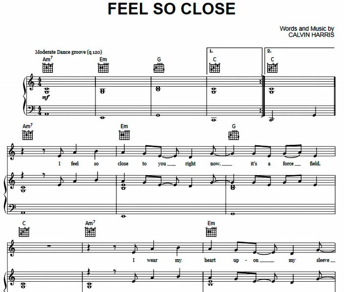 Calvin Harris - Feel So Close