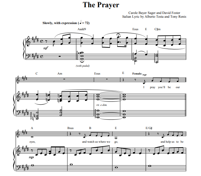 Celine Dion & Andrea Bocelli -The Prayer