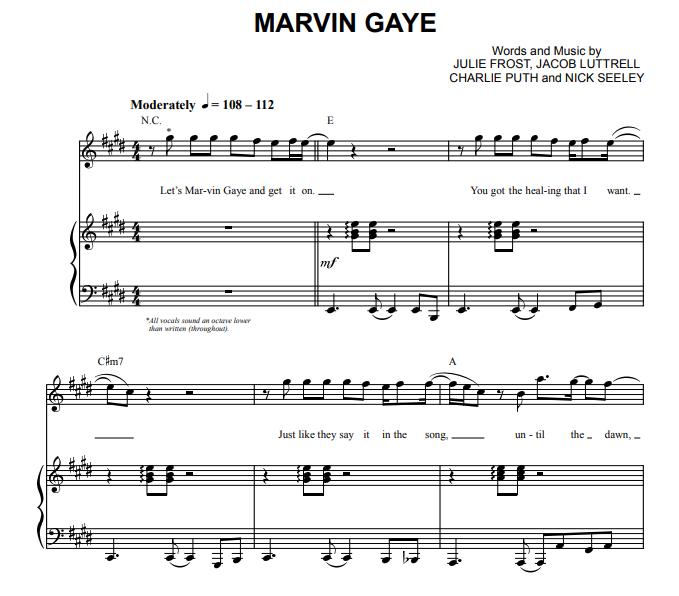 Charlie Puth - Marvin Gaye
