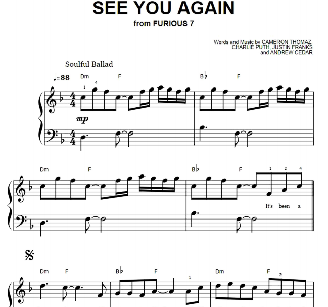 Charlie Puth - See You Again Easy