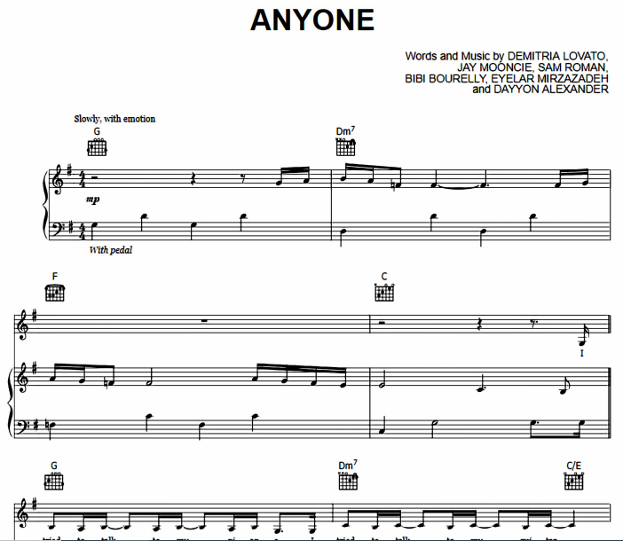 Demi Lovato - Anyone
