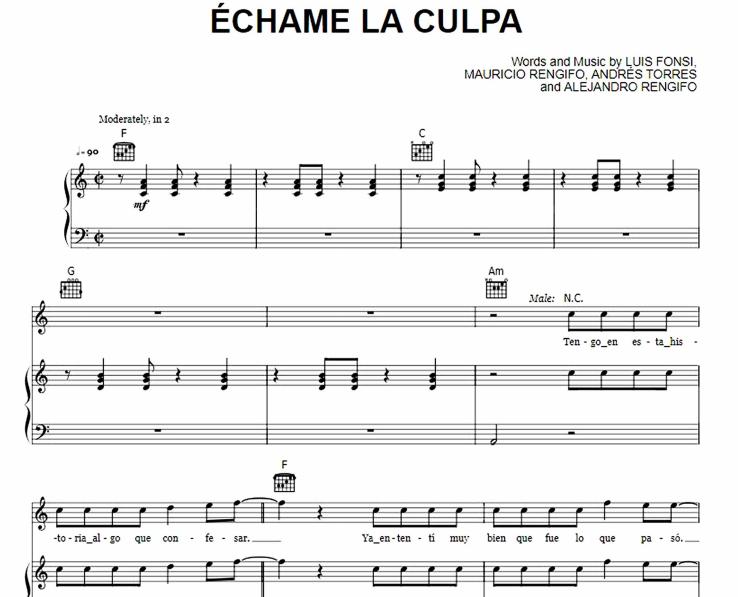 Demi Lovato - Echame La Culpa