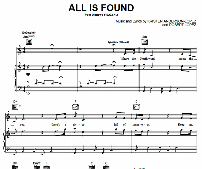 Frozen - All Is Found