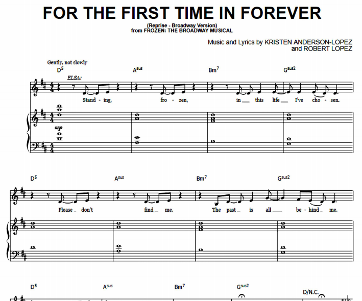 Frozen - For The First Time In Forever