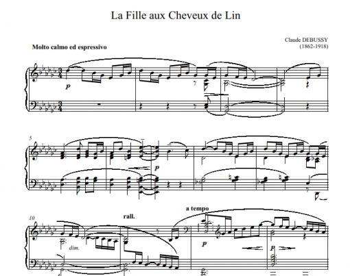 Debussy -La Fille aux Cheveux de Lin