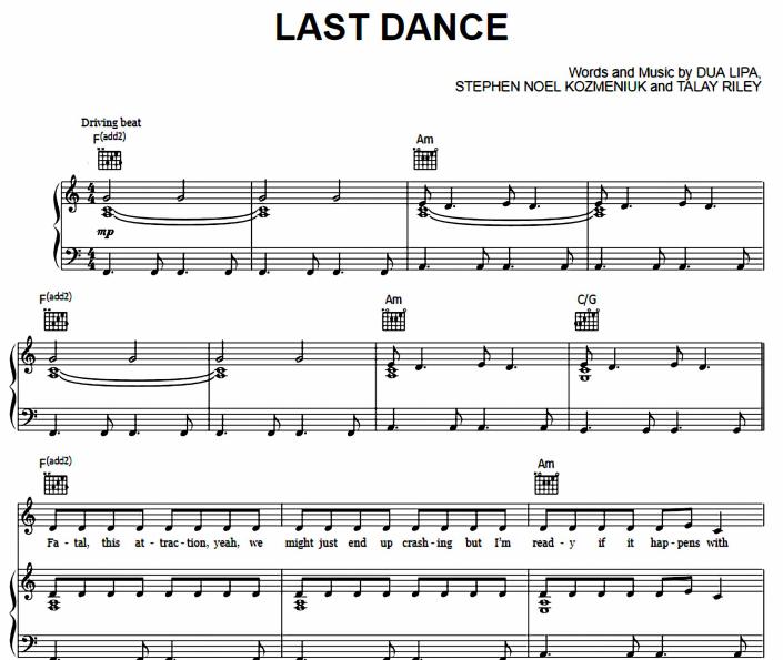Dua Lipa - Last Dance