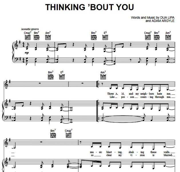 Dua Lipa - Thinking 'Bout You