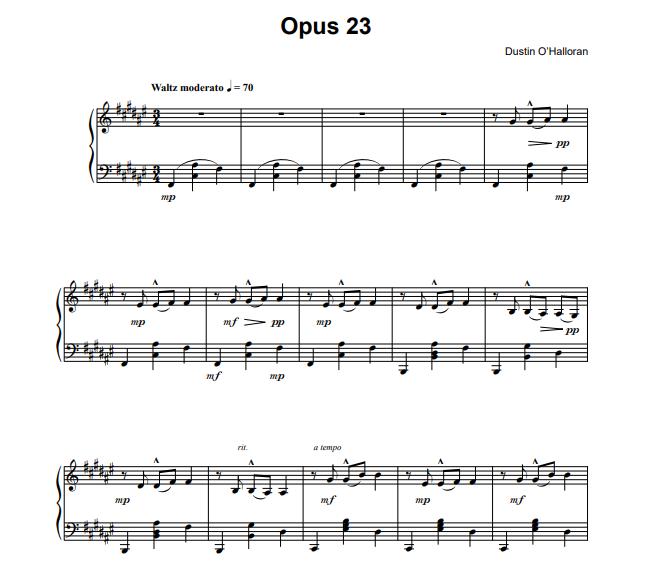 Dustin O'Halloran - Opus 23