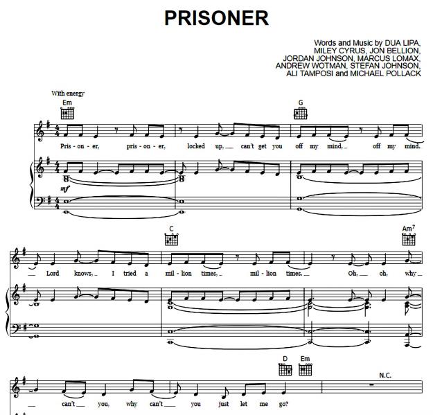 Miley Cyrus ft Dua Lipa - Prisoner