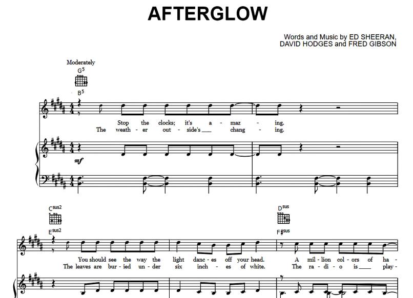 Ed Sheeran - Afterglow