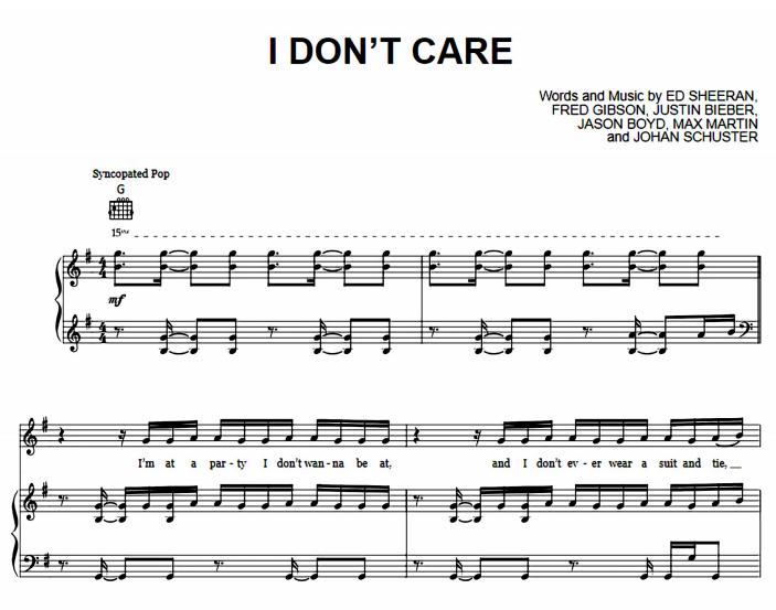 Ed Sheeran & Justin Bieber-I Don't Care