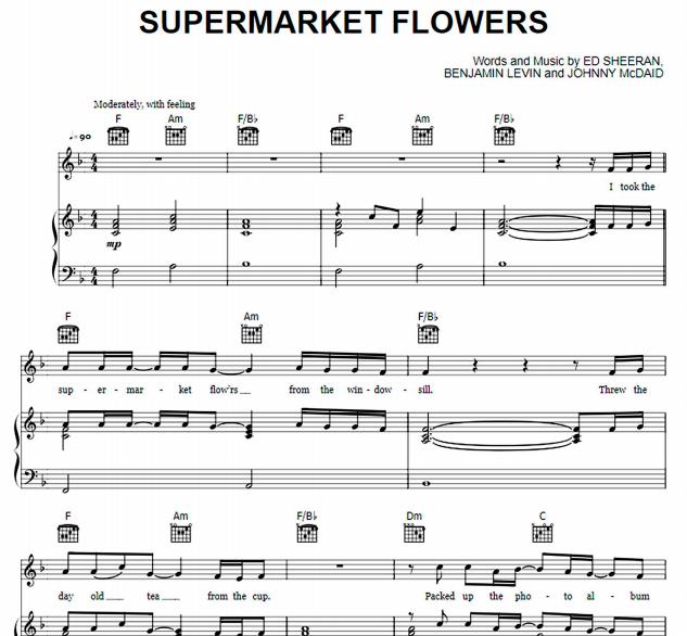 Ed Sheeran - Supermarket Flowers