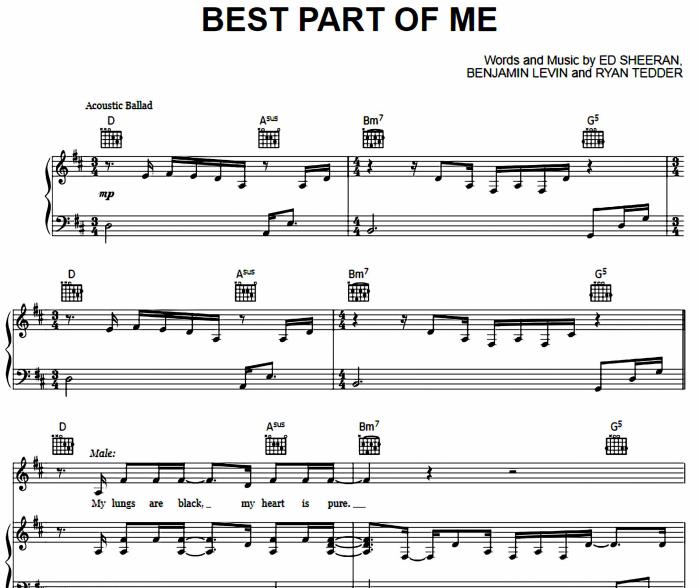 Ed Sheeran feat Yebba-Best Part Of Me
