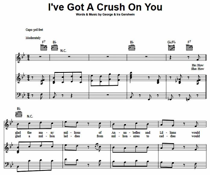 George Gershwin - I've Got A Crush On You