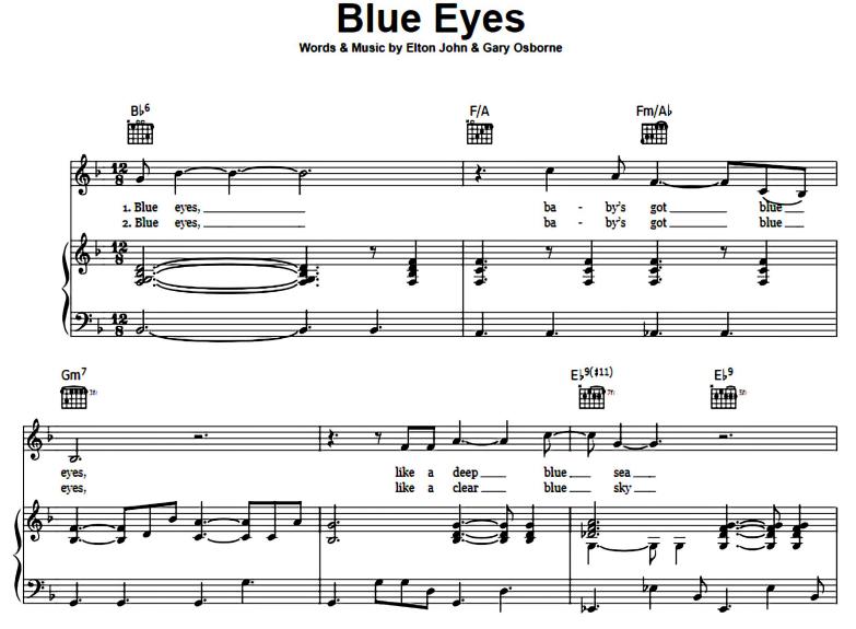 Elton John-Blue Eyes