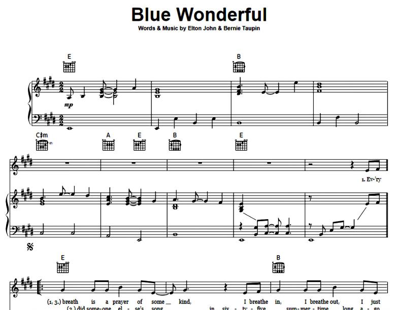 Elton John-Blue Wonderful